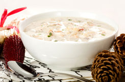 Chowder di mollusco di Nuova Inghilterra Fotografia Stock