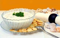 Chowder di mollusco e Seashells Immagine Stock Libera da Diritti