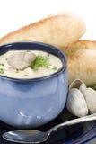 Chowder di mollusco - verticale immagine stock