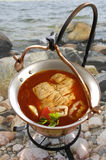 Chowder di pesci dall'Ungheria (lago Balaton) Fotografia Stock