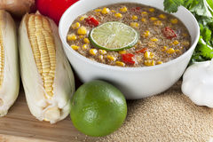 Chowder and Ingredients Stock Images