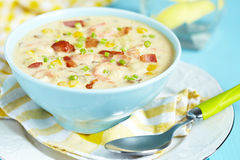 Chowder with Shrimp Royalty Free Stock Photo