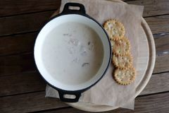 Free Chowder Soup On Table Royalty Free Stock Photos - 113753678