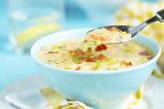 Chowder With Shrimp Stock Photo