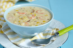 Chowder With Shrimp Royalty Free Stock Images