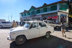 Chowk ocupado da biblioteca, Mussoorie foto de stock royalty free