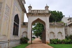 Chowmahalla宫殿在海得拉巴,印度 免版税图库摄影
