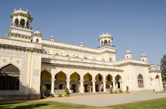 Chowmahalla Palace. View of the exterior of one of the four palaces at Chowmahalla, Hyderabad, India.  Built in the 18th and 19th centuries, the grand buildings Royalty Free Stock Photography