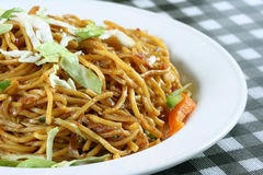 Chowmein in plate Royalty Free Stock Photography