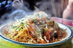 Chowmein vegetariano Immagine Stock