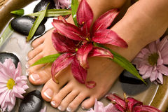 choyer de footcare photographie stock