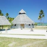Choza aborigen, Bahía de Bariay Imagen de archivo libre de regalías