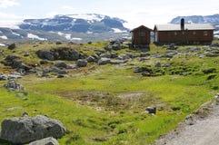 Choza alpestre de Rallarvegen Imágenes de archivo libres de regalías