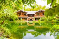 Choza amazónica grande del bosque Imagen de archivo libre de regalías
