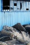 Choza azul Fotografía de archivo libre de regalías