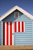 Choza colorida de la playa Foto de archivo libre de regalías