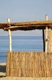 Choza de lámina en la playa, Mar Rojo Fotos de archivo