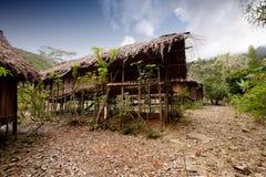 Choza de la aldea Foto de archivo libre de regalías