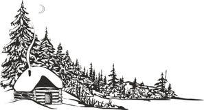 Choza de la caza ilustración del vector
