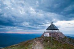 Choza de la cumbre del Mt Buller Imagenes de archivo