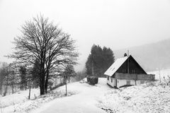Choza de la montaña Fotografía de archivo libre de regalías