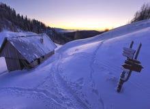 Choza de la montaña Imagen de archivo libre de regalías
