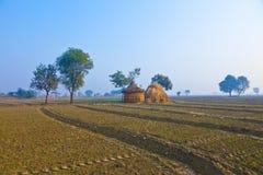 Choza de la paja de la gente local en la India, Rajasthán Fotografía de archivo libre de regalías