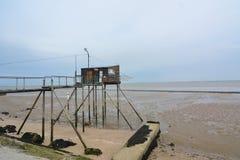 Choza de la pesca en Francia Fotos de archivo libres de regalías