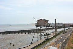 Choza de la pesca en Francia Imagenes de archivo