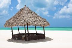 Choza de la playa Imagen de archivo