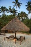 Choza de la playa Imagen de archivo libre de regalías