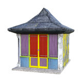 choza de la playa de la representación 3D en blanco Imagen de archivo libre de regalías