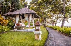 Choza de la relajación en Bali foto de archivo