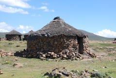 Choza de Lesotho Foto de archivo