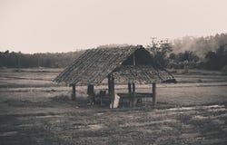 choza de madera en la granja Imágenes de archivo libres de regalías