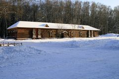 Choza de madera rusa Fotografía de archivo