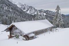 Choza de Wasensteiner en invierno fotos de archivo libres de regalías