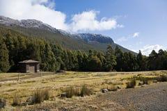 Choza debajo del montaje Wellington, Tasmania Fotografía de archivo libre de regalías