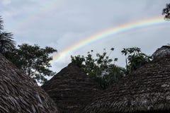 Choza del arco iris Fotos de archivo