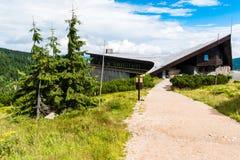 Choza del bouda de Labska en montañas gigantes y x28; Krkonose& x29; en República Checa Imagenes de archivo