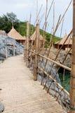Choza del centro turístico en Tailandia. Fotografía de archivo libre de regalías