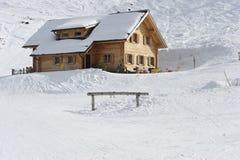 Choza del esquí Fotografía de archivo