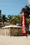 Choza del masaje de la playa Foto de archivo libre de regalías