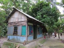choza del pueblo, Barishal rural, Bangladesh Foto de archivo libre de regalías