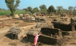Choza en la India Foto de archivo libre de regalías