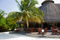 choza en la isla tropical Imagen de archivo libre de regalías