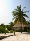 Choza en la isla tropical Foto de archivo libre de regalías