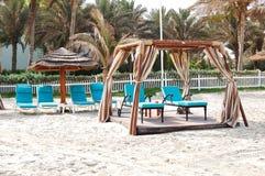 Choza en la playa del hotel de lujo Imagen de archivo libre de regalías