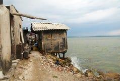 Choza por el mar Fotos de archivo libres de regalías