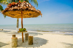 Choza por la playa Livingston Guatemala Imágenes de archivo libres de regalías